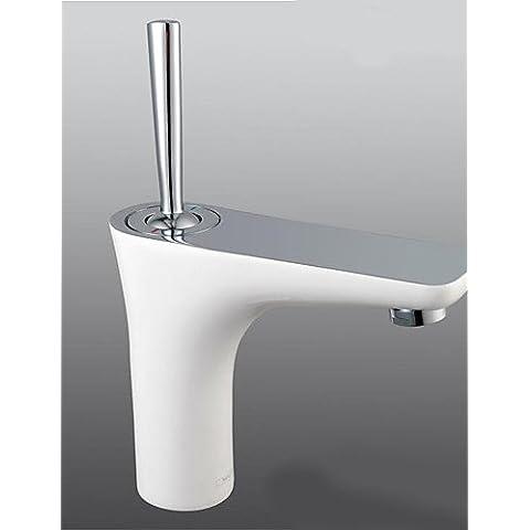 El lujo clásico de latón de una sola palanca corta Spray baño caliente y frío baño grifos grifo de fregadero fregadero de montaje de cubierta de cromo Grifo lavabo grifos CSÁSZÁR