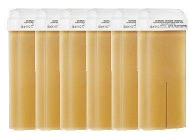 6-cartucce-di-cera-tiepida-pinzetta-liposolubile-miele-epilazione-con-banda
