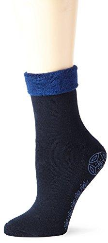 Hanes Socken Blau (ELBEO Damen Socke W mit Abs-Prin, Blau (Nachtblau 9756), 42 (Herstellergröße: 39-42))