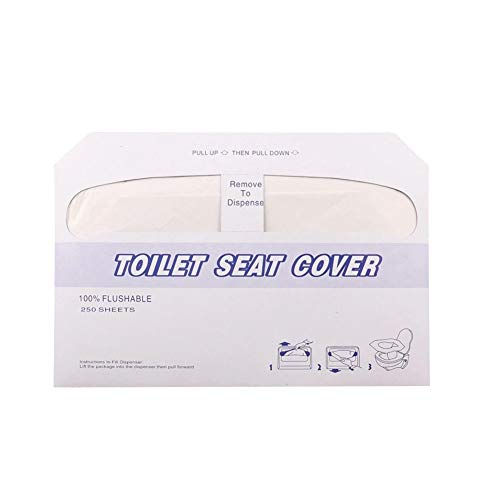 Hilai 240 Stück Toilettensitzabdeckungen Einweg-WC-Sitz Rohholz Pulp Instant-Wasser-Einweg-Toilettenpapier