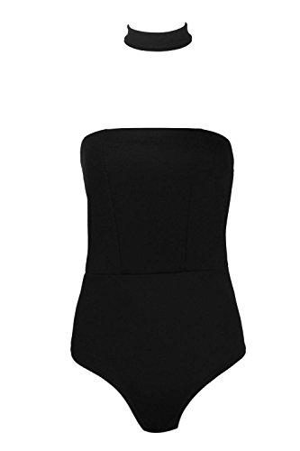 Noir Hommes Casey Detachable Choker Bandeau Bodysuit Noir