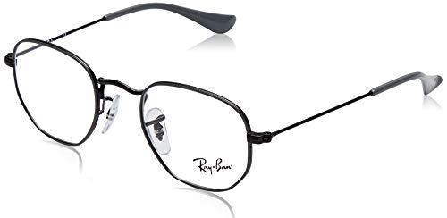 Ray-Ban Unisex-Kinder 0RY 9541V 4060 42 Brillengestelle, Schwarz (Demiglos Black On Grey),