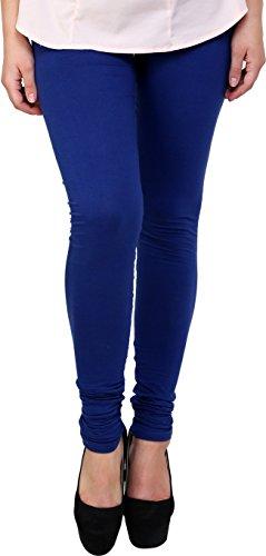 Young Trendz Womens Cotton Leggings(T3_Blue_Free Size)