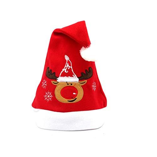 Weihnachtsfest Sankt Hut rote und blaue Kappe das Weihnachtsmann neu Kostüm YunYoud wintermützen moderne haube schal skimütze laufmütze strickmützen bommelmütze zipfelmütze (Real Santa Claus Kostüm)
