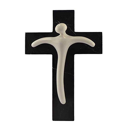 Kruzifix aus Marmor weiß Carrara, handgeschnitzt