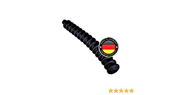 Ws System 2x Universal Faltenbalg Aus Gummi 2 Stk Flexible Dehnbare Achsmanschette Made In Germany Aus Hochwertigem Pvc Schelle In Größe L 235mm Ø 5mm Ø 14mm Auto