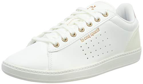 LE COQ SPORTIF COURTSTAR W Boutique, Baskets Femmes, Blanc (Optical White/Rose Gold), 39 EU