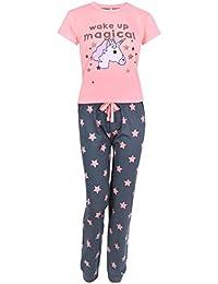 Love to Lounge Pijama Gris neón Unicornio