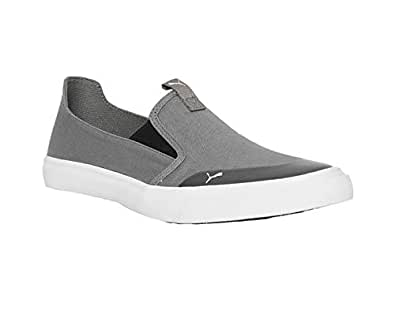 PUMA Men's Lazy Knit Slip On IDP Charcoal Gray White Sneakers-10 UK/India (44.5 EU) (4060979673311)