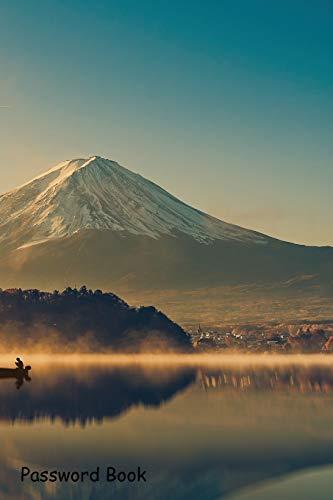 Password Book: Include Alphabetical Index With Mount Fuji Lake Kawaguchik Sunrise Vintage Fuji Digital Memory