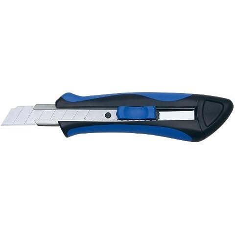 Wedo 078918 Softgrip Cutter con 2 Lame Di Ricambio, 18 mm, Blu