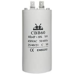 Condensateur de moteur 40 uF/450V CA