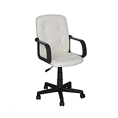 GreenForest Luxury Boss Leather Swivel Chair Computer/Office/Task Ergonomic Desk Chair - inexpensive UK chair store.