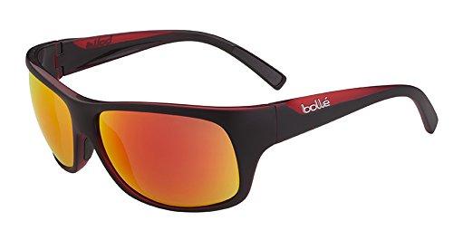 bollé Bollé Viper Herren Sonnenbrille, Herren, Viper, Matte Black/Red TNS Fire TNS Fire, Größe M/L