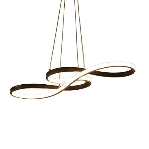 PingFanMi Deckenleuchte 58 W, die das Moderne dimmbare LED-Pendelleuchte, Esszimmer Lampe, Deckenleuchte, Zentralverriegelung mit Fernbedienung, höhenverstellbar, Acryl, Aluminium, mattschwarz [Energi