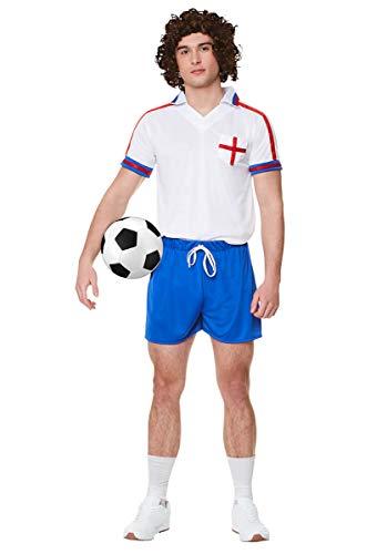 Karnival 822271980Fußball Player Kit Kostüm, Herren, Multi, groß