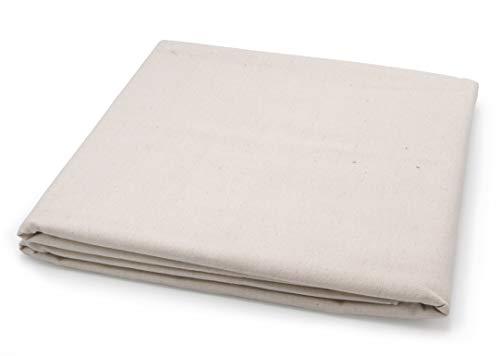 Paintersisters Maltuch – Leinwand ungrundiert, 160cm x 5m Rohgewebe 10 oz/m² aus 100% Baumwolle, Zum Bespannen von Keilrahmen, Malgrund Raw Cotton