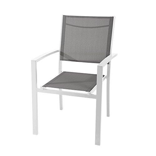 Sibrand evergreen poltrona sedia con braccioli in alluminio grigio arredamento eg50593