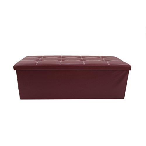 Rebecca mobili mobili rebecca puffo contenitore seduta bordeaux similpelle salvaspazio portaoggetti 37 x 110 x 38 cm (cod. re6159)
