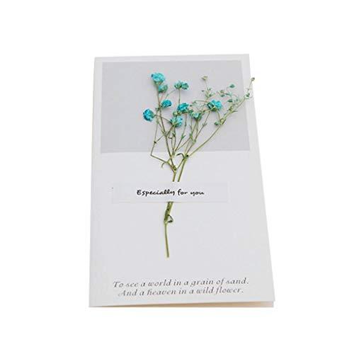 Dpolrs Hochzeit Trockenblumen Einladungen Postkarten Hochzeit Geburtstags-Party-Festival Grußkarte