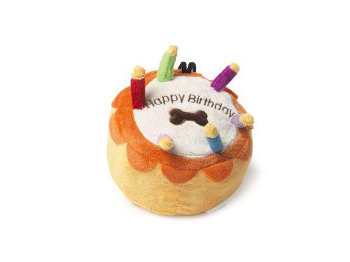 Casa de Paws cumpleaños tarta grande perro juguete Juguete de lujo para perro con chirriador. Horas de diversión para su perro, perfecto para lanzarse y atrapar.  Material de felpa de alta calidad  Con chirriador integrado  Perfecto regalo de cumplea...