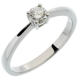 9 ct Weiß Gold 0,25 CT Diamant Solitare Engagement - Engagement Diamant-ring Tiffany