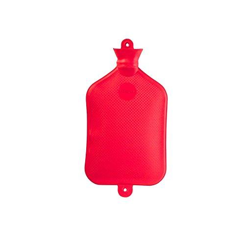 3 Liter Gummi-Wärmflasche von Sänger, XL-Wärmflasche, Wärmetherapie, rot