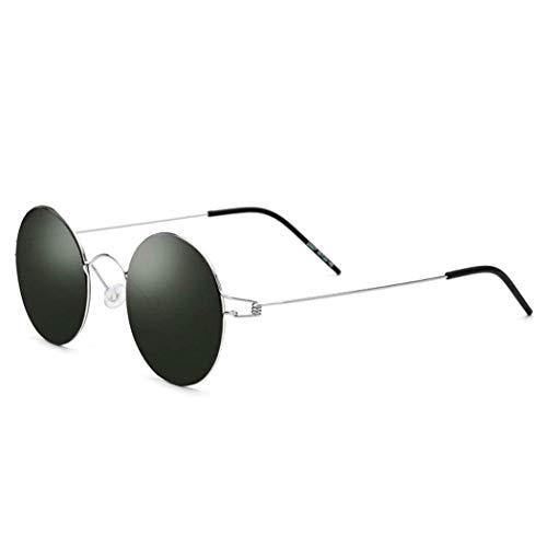 GUGU Brille Runde polarisierte Sonnenbrille Hippie-Brille für Frauen Männer