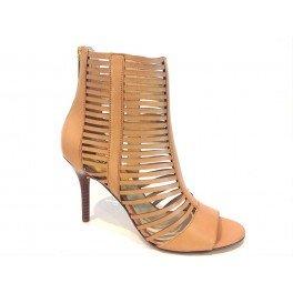 MICHAEL MICHAEL KORS ODELIA BOOTIE 40R5OAHE5L sandalo donna in pelle con zip - Beige, EUR 37
