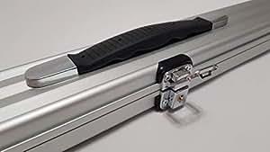 O'Min Aluminum Snooker Cue Case (Silver)