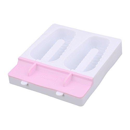 Fächer Streifen Form DIY Gefrorene Süßigkeiten Eis Lutscher Hersteller Schimmel Pink (Gefrorene Halloween-dekoration)