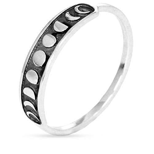 ter Dünne Bar Ring Retro Hochglanz Joint Knuckle Ring Frauen Mädchen Schmuck Zubehör, 7# ()