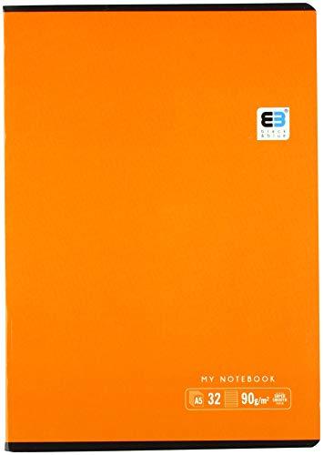 Interdruk ZE32=B&B - Cuaderno (A5, 32 Unidades), Color Azul y Negro