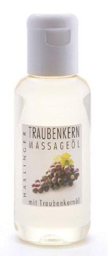 Traubenkern Massageöl mit Traubenkernöl, Bodyöl 100 ml (Sinnliche Wohltuende Massage-Öl)