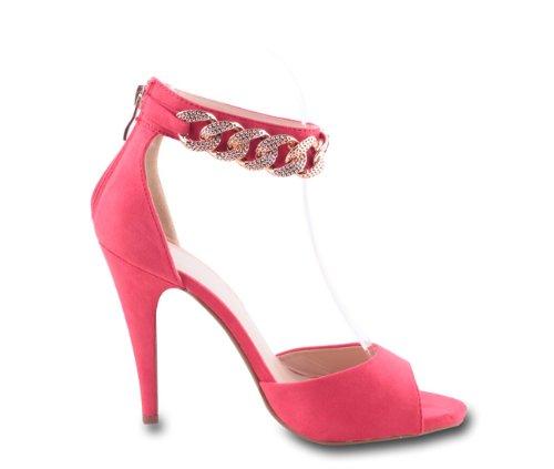 Mixmatch24 , escarpins femme Rouge - Rouge