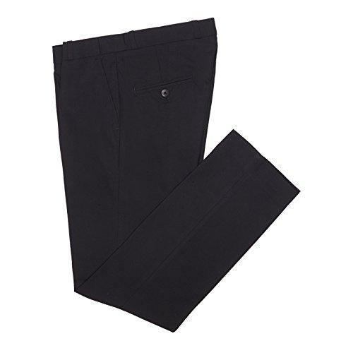 Herren klassisch flache FRONTED schwarz Retro Vintage sta-presse Mod enge Passform 60s Jahre 70s Jahre Hosen - Schwarz, 38 (Jahre Männer Mode Für 60er)