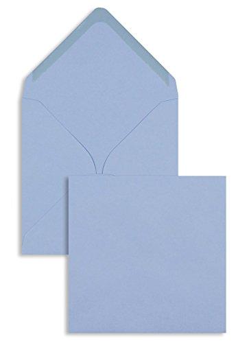 Farbige Briefhüllen | Premium | 155 x 155 mm Blau (100 Stück) Nassklebung | Briefhüllen, Kuverts, Couverts, Umschläge mit 2 Jahren Zufriedenheitsgarantie