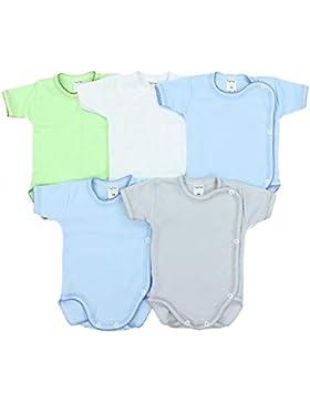 TupTam Unisex Baby Kurzarm Wickelbody Baumwolle 5er Pack