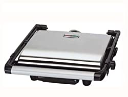 Italia Grill Sandwich Maker 2000 Watts (Black and Grey)