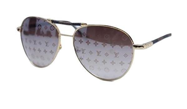 3f39bdd916fc3c Louis Vuitton Damen Sonnenbrille Gold Gold: Amazon.de: Bekleidung