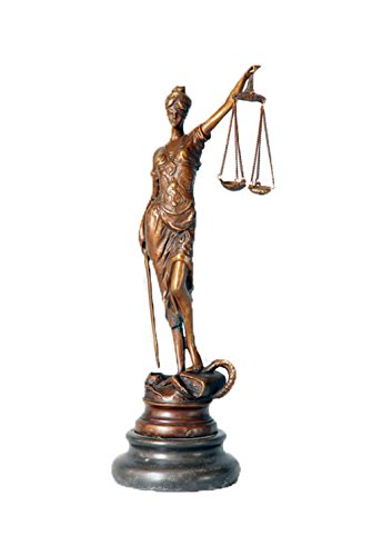 Toperkin Lady Justice Statue 8 Inch Sculptures Goddess Lawyer Home Decor