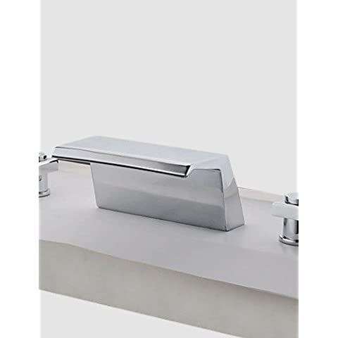 Due maniglie cromate vasca a cascata rubinetti (0778 - SY-TG-1026A)