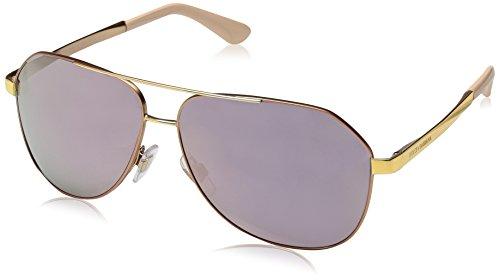 Dolce & Gabbana Damen 0DG2144 12945R 61 Sonnenbrille, Matte Pink Gold/Darkgreymirrorpink
