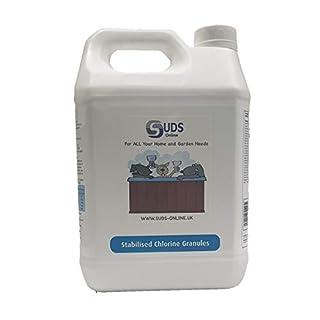 SUDS-ONLINE Quality Chlorine Granules 5kg Hot Tub Spa Swimming Pool + FREE TEST STRIPS