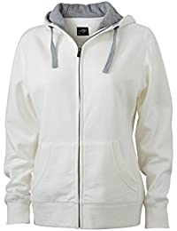 James & Nicholson Women's Lifestyle Zip Hoody Sports Sweatshirts, Womens, Lifestyle Zip-Hoody