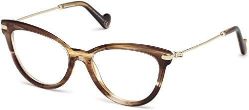 Moncler Unisex-Erwachsene Brillengestelle ML5018 047 53, Braun (Marrone CHIARO)