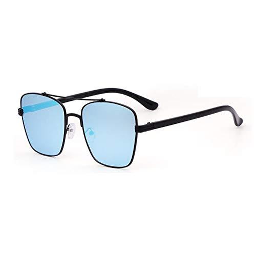 YIWU Brillen Neue 2019 Modelle der Männer Sonnenbrillen Retro Persönlichkeit Big Box Sonnenbrillen Frauen Straße Schießen Urlaub Strand Gläser Brillen & Zubehör (Color : Ice Blue)