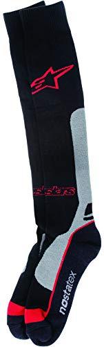 Alpinestars Socken MX 2014Pro Coolmax-grau-rot (S/M, schwarz) -