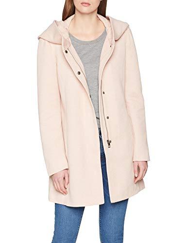 VERO MODA Damen VMVERODONA LS Jacket NOOS Mantel, Beige (Mocha Mousse Detail:Melange), 40 (Herstellergröße:L)