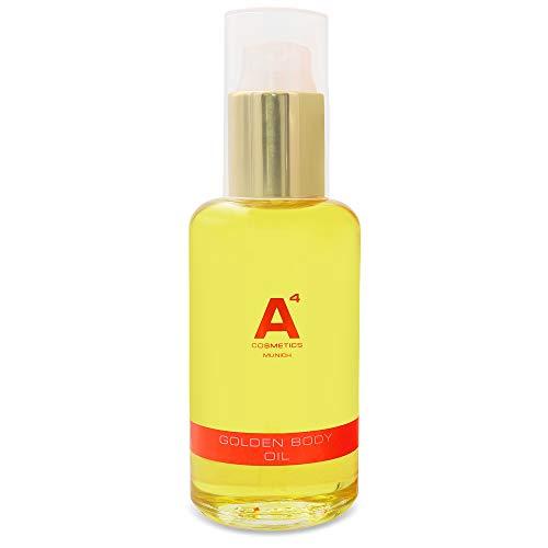 A4 - GOLDEN BODY OIL | Straffendes Körperöl mit Arganöl | Schutz vor freien Radikalen | Feuchtigkeitsspende | belebend (100ml) -